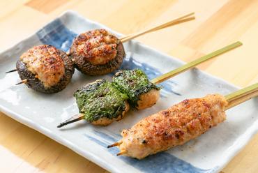 鶏と野菜、素材が調和する『生つくね焼』