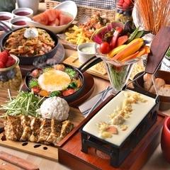 チーズの魅力がたっぷり詰まった人気No.1コース♪前菜からメイン、デザートまでチーズ&肉づくし!