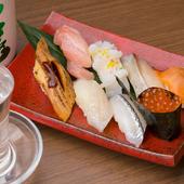 寿司に合う銘酒を厳選、広島の地酒も取り揃え