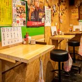 気軽に利用できる立ち食いスタイルの和食料理店