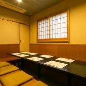 和モダンな設えが美しい空間に、2~60名様対応の個室をご用意