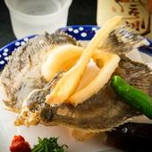 明石名物の鮮魚を丸ごと食べられる!  『メイタガレイの唐揚げ』