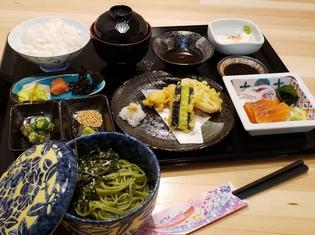 吉井・長尾製麺の茶そばを使用した彩り豊かな『 茶そば和御膳』