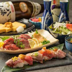 名物肉盛りプレートやメディアで話題の肉寿司など肉尽くしの厳選コース!!