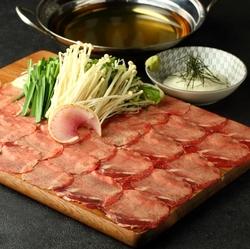 旬の食材、絶品牛タンしゃぶしゃぶ付きの厳選コース!!お魚、お肉、お鍋が共に堪能できます♪