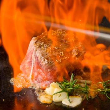 牛肉と牡蠣とチーズ+魚or肉を堪能できるコース