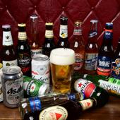 輸入ビールやクラフトビールは自慢の肉料理との相性抜群