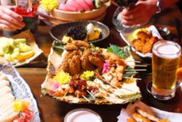 メディアで話題沸騰中!!名物魚串(うおくし)新鮮な海鮮などを焼き鳥感覚で楽しむ新スタイルで!!