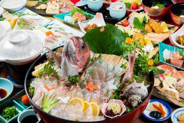 地元の新鮮魚介を選び抜き、贅を尽くした『玄海海鮮プラン』