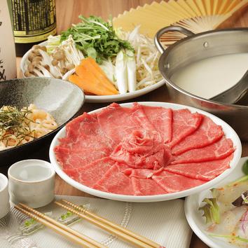 『厳選肉のしゃぶしゃぶ食べ放題コース』2時間全7品2480円(税別)