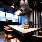 記念日など、特別な会食に相応しい洗練された空間