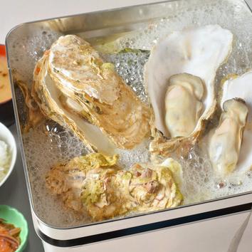 活牡蠣のガンガン焼き食べ放題100分