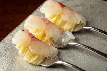 『天然真鯛の冷製カッペリーニ』
