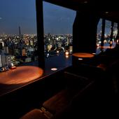 天空のバーから見下ろす名古屋の夜景