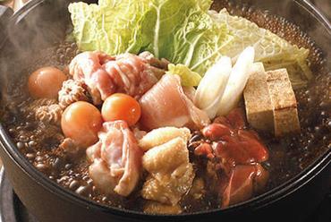 <当店自慢!! 特製鶏すき鍋>