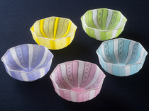 藤田喬平作のガラス器
