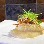 アッサリ鯛と大根おろしの餡が優しくマッチした『甘鯛の唐揚げ』