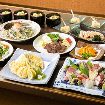 ●宴会コース+1.5時間飲み放題付(4,000円)