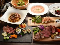 人気の宴会プランに豪華プレミアムグリル肉が入ったプランです。 ボリュームも満点で大満足間違い無し!