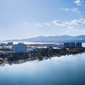 雄大な琵琶湖の眺めに心癒される、くつろぎの時間