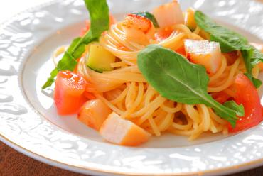 甘味と酸味が見事にマッチした『ホタテとルッコラのスパゲッティー』