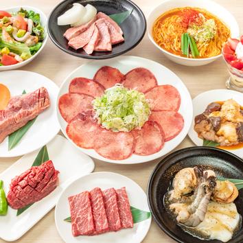 2時間食べ放題・満足コース・3480円(税別)