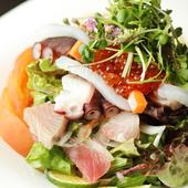 富山の海の幸を大満喫できる『本日の海鮮まかないサラダ』