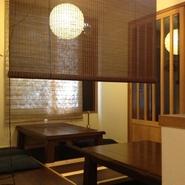 個室(掘りごたつ)も、5名~10名にてご利用頂けます。※レールカーテンで間切り可能。