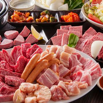 人気部位12種・贅沢焼肉コース(飲み放題追加可能)