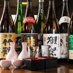 銘酒「獺祭」をはじめ味わい深い地酒を飲み放題で提供