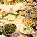 旬菜の旨みを生かした20種以上の『サラダ・野菜料理』