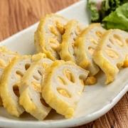 熊本の郷土料理。鼻を抜ける和からしの香りと味噌、蓮根のシャキシャキの食感が相性抜群です。