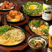 大型スクリーンでスポーツ観戦をしながら楽しく食事を