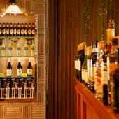 イタリアの樽生ワインをはじめ、料理と相性の良いお酒が充実