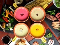 お肉×魚×野菜×チーズフォンデュ