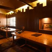 広い座敷席があり、各種宴会に対応。コースは3000円~ご用意