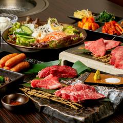 贅沢つきだしをはじめ、タン・ロース・カルビ・ハラミ・ホルモンとバランス良く、食べたいお肉が揃います