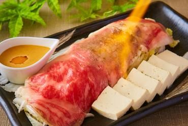 仙台牛の焼きしゃぶ ~雲丹だれ~
