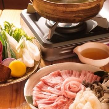 野菜たっぷり菌活腸内美人しゃぶしゃぶコース 4300円