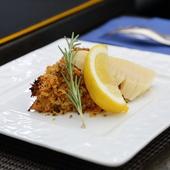 金目鯛の香草焼き レモンペッパーとトマトの2色のソース(European)