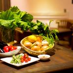 新鮮な野菜もたっぷり使用