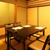 個室は三室。繋げて一室にすることで40名様まで入室可能