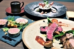 60日以上十勝熟成牛肉と道産A4黒毛和牛の食べ比べが付いたお得なコース