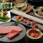 金色に囲まれたプレミアム感のある空間は、ハレの日の会食にもぴったり。ランチタイム限定のメニューも用意されており、結納や顔合わせといった席にも重宝します。