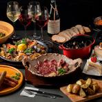 お肉とあわせて堪能したい、豊富なワインのラインナップ