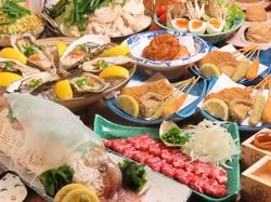 馬肉カルパッチョやプリプリ海老入り自家製さつま揚げがついたお得なコース!女子会や宴会にオススメです。