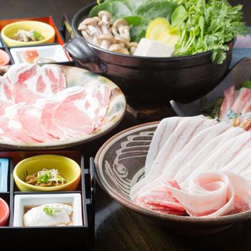 ●金城アグーと島野菜のしゃぶしゃぶ鍋コース