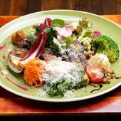 16~18種類もの四季折々の旬の野菜をふんだんに使用した『お野菜たっぷりアンティパスト』