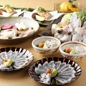 15名以上24名までで貸切可能。雅な空間で贅を尽くした料理を堪能