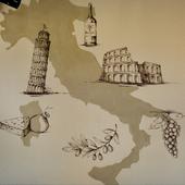 イタリアの雰囲気を演出するおしゃれな壁紙